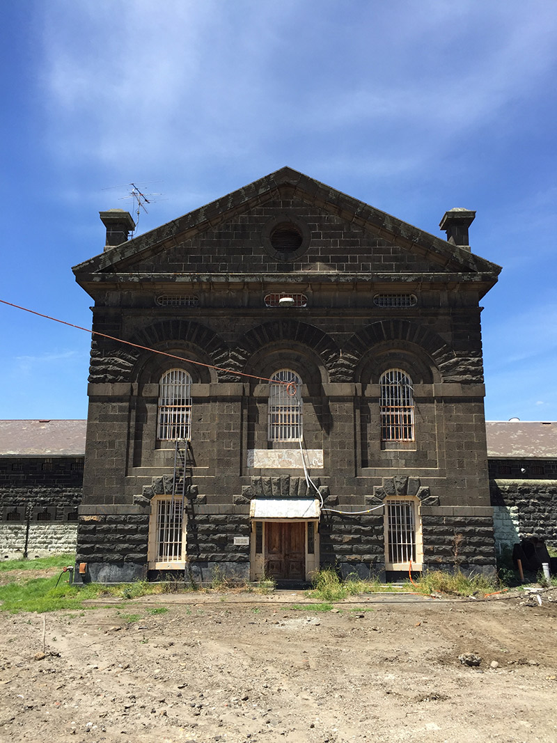 Restoration work on Division A at Pentridge